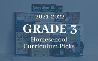 2021-2022 Grade 3 Homeschool Curriculum Picks