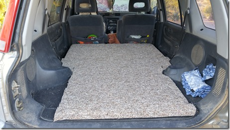 Carpeting in place. & How I converted my Honda CR-V into a camper - Wild Mountain Echoes
