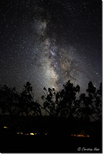 Starry skies above the campground in El Malpais National Monument