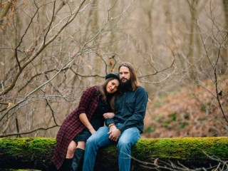 Klair + Dustin - Woodsy West Virginia Engagement