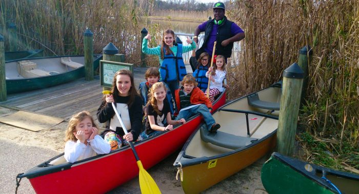 Birthday Party with canoe rentals.