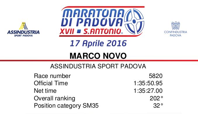 Mezza maratona di Padova 2016