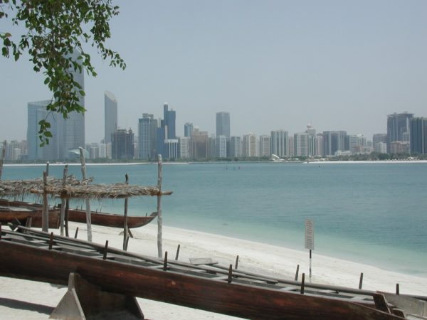 Abu Dhabi from across bay