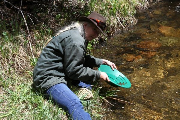 Maybe an idle artist, but not necessarily an idle person, lol. Me trying my hand at panning for gold in the Rockies.