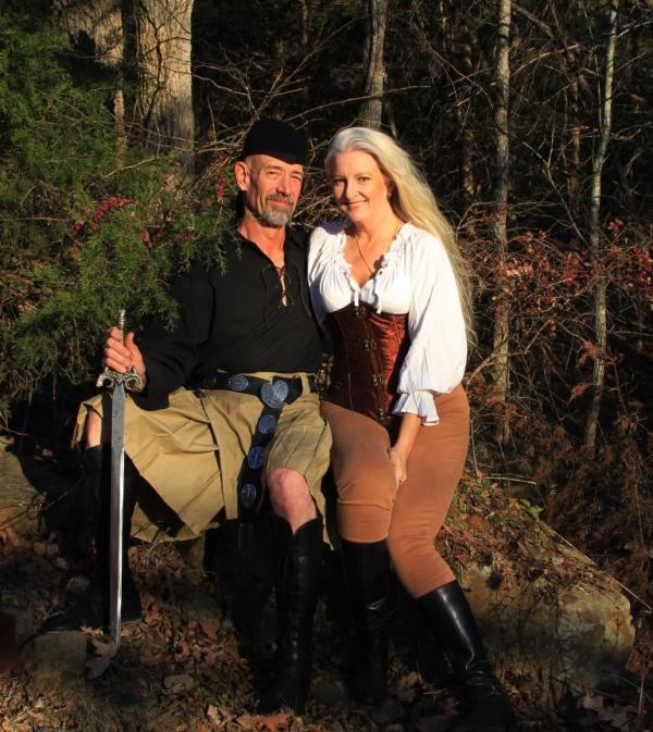 the Wild Ozark duo, having fun.
