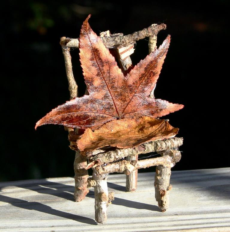 A wood folk chair.