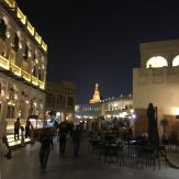 Finally, after sunset at Souq Waqif. Still hot, but not as hot as during daylight hours.