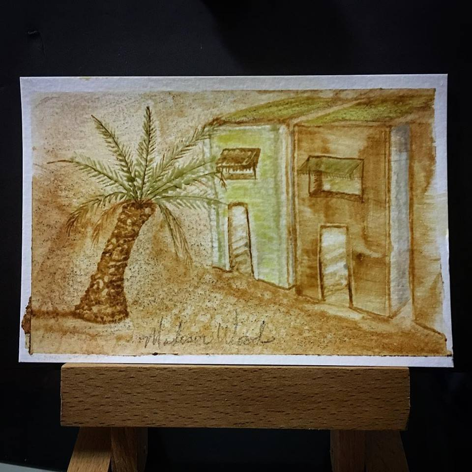 My first watercolor painting. Apartments in Doha, Qatar.
