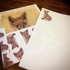 Red Fox stationary set from Wild Ozark.