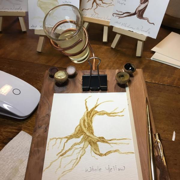 Paleo Go prototype in use for one of my twisted tree paintings.