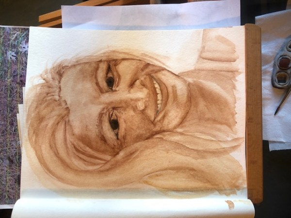 While learning to paint a portrait, I had to figure out how to fix the problem of my eyes looking too wide open.