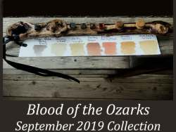 Ozark pigment watercolor collection no. 1, Sept. 2019. Blood of the Ozarks Driftwood Palette No. 1.