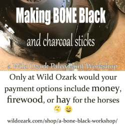 A making bone black workshop.
