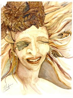"At The Las Laguna Art Gallery Online Exhibition: 2020 Portraits. ""Eye of the Storm"", by Madison Woods."