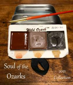 A set of watercolors from Ozark pigments.