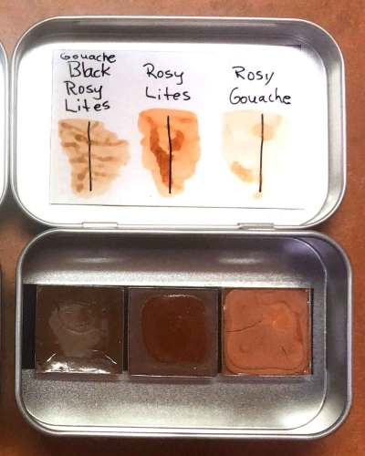 Soul of the Ozarks collection No. 17 includes 3 full sized pans of Rosy variations.