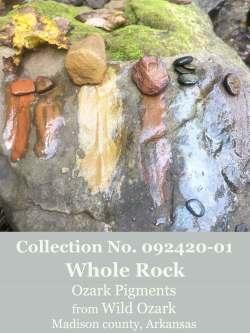 Whole Ozark Pigment Rock set no. 092420-01