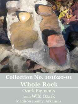 Large whole rock pigments from Wild Ozark.
