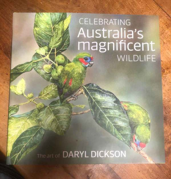 A book featuring the art and story of Daryl Dickson's watercolor art.