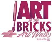 The logo for Rogers Arkansas' Art on the Bricks art walk.