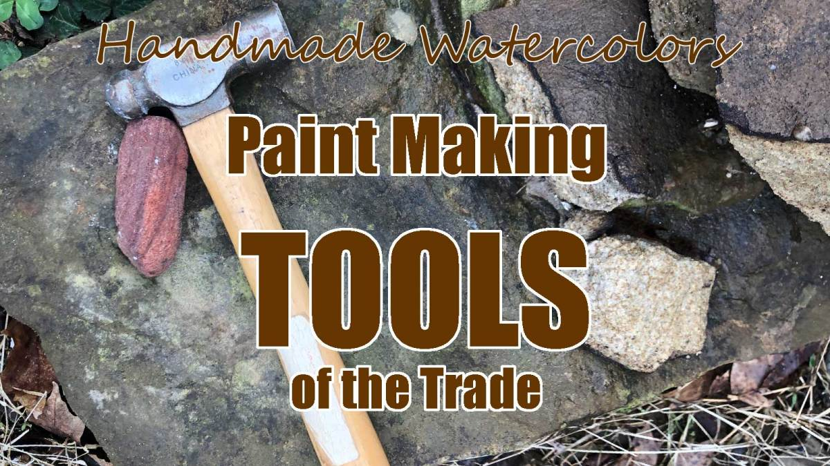 Paint making tools of the trade, a list compiled by Madison Woods of Wild Ozark.