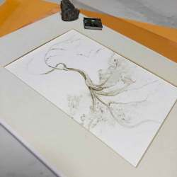 Are you wondering what to buy a nature lover? How about a monochromatic twisted tree original painting made from a rock.