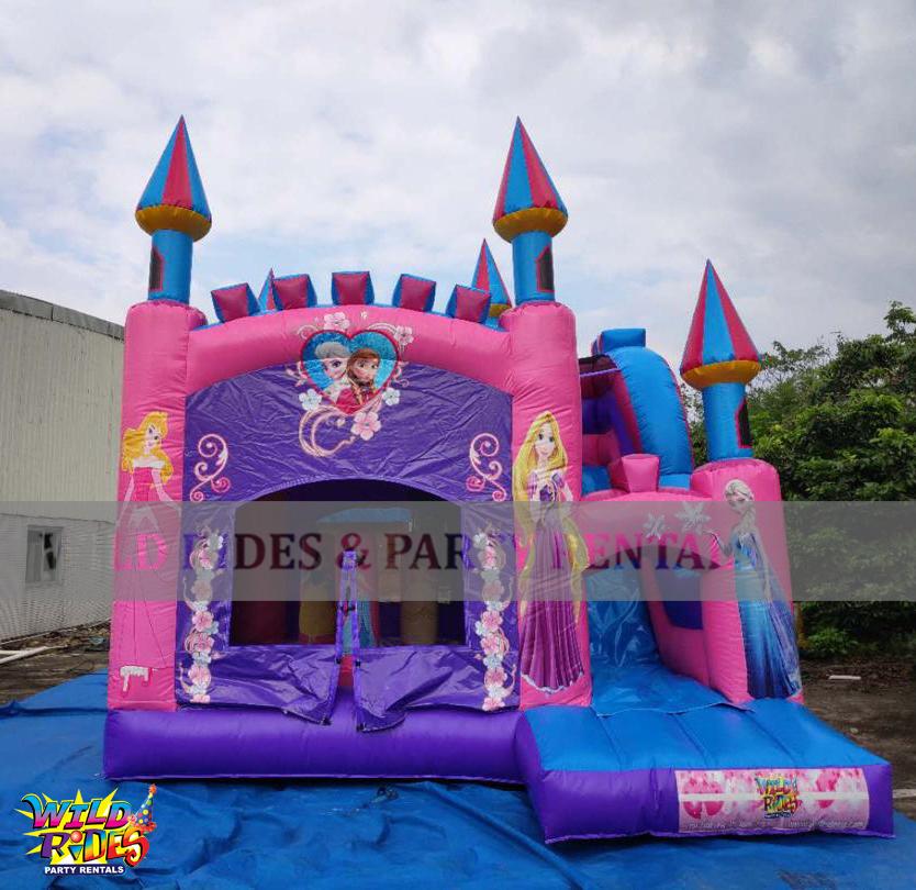 Princess Castle Bouncer w/Dry Slide