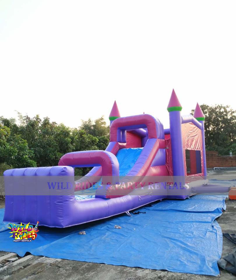 Large Girls Castle Bouncer w/ Dry Slide