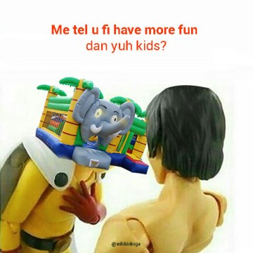 Tag a friend who enjoys inflatable bouncers more than you do. #viralmeme #tagafr