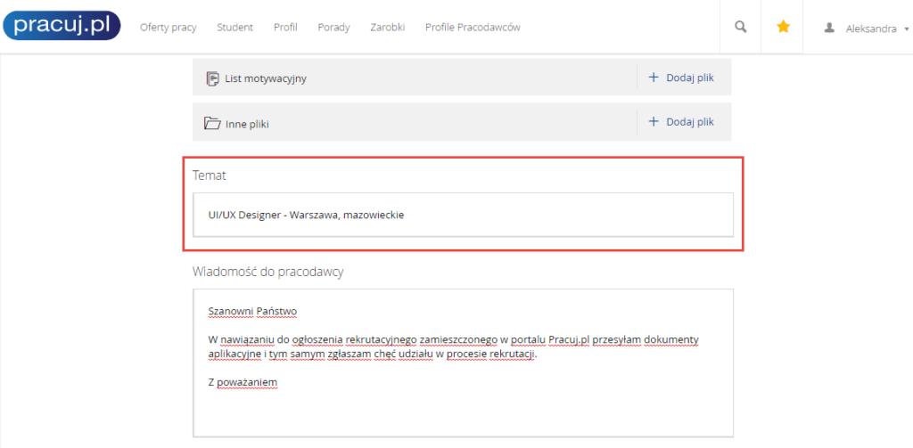 gdzie mozna wyedytowac temat wiadomosci na pracuj.pl