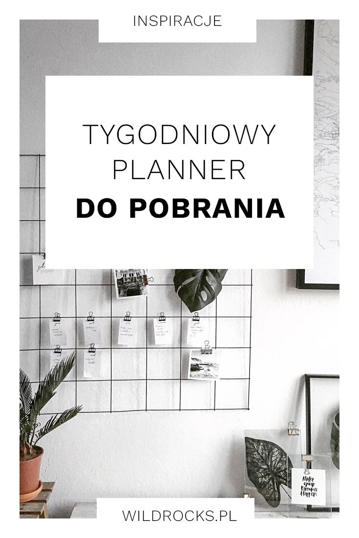 TYGODNIOWY PLANNER DO POBRANIA