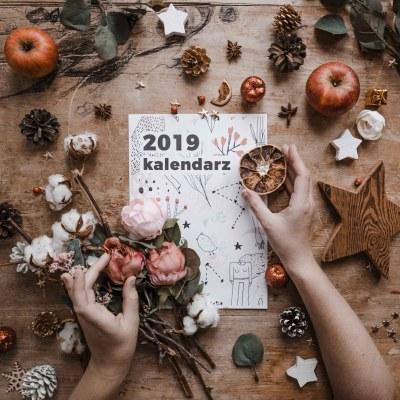 darmowy kalendarz do druku na 2019