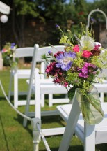 Summer Wedding Pew Ends