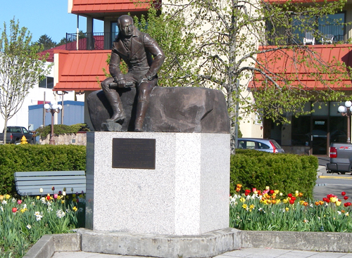 Statue of Alexander Baranof. Alexander Baranof was the governor of Russian America when the Russians first settled in the Sitka area in 1799.
