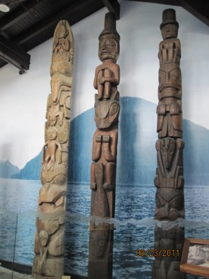 Some Native Totem Poles in Sitka, AK