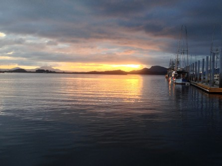 Sunset In Eliason Harbor Sitka, AK