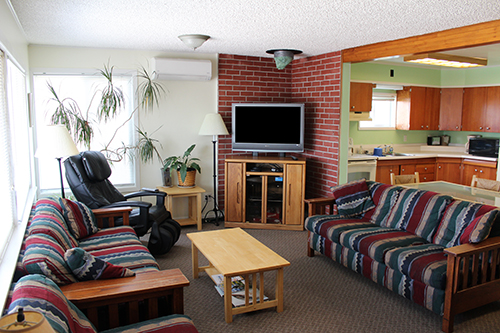 The Living Room in the Front House at the Wild Strawberry Lodge