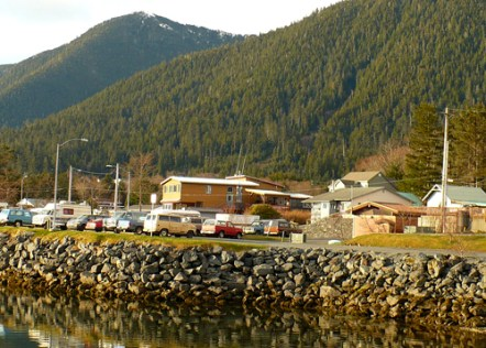 Wild Strawberry Lodge From Across Thomsen Harbor