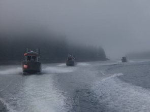 Boats and Alaska Fog