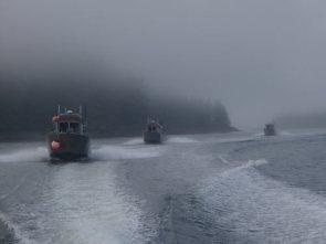 Boats and Alaska Fog