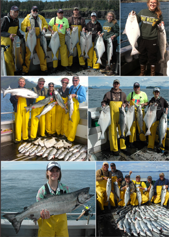 7 21 2014 A beautiful day with lots of Kings Halibut and Cohos