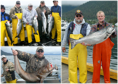 06 15 2010 Lots of keeper kings and a ling cod that was a few inches too short