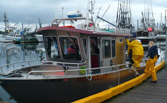 Loading Boats in Eliason Harbor in Sitka, Alaska