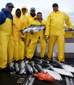 The Buie Party enjoys a fantastic fishing trip in Sitka, Alaska