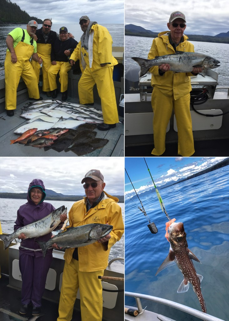 Kings, cohos, ratfish, & lots of sole!