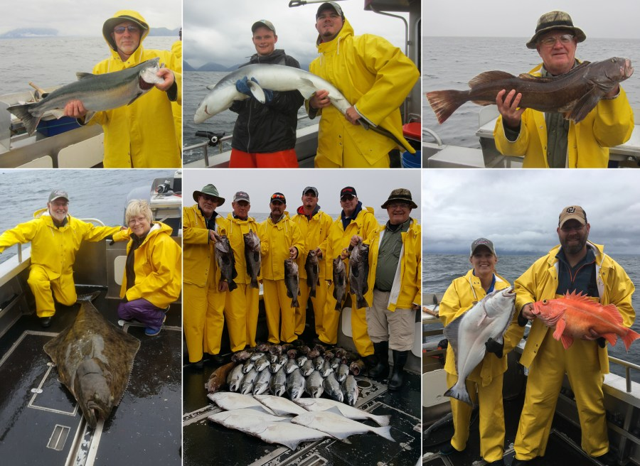 Keepers and releaser halibut and blue shark!