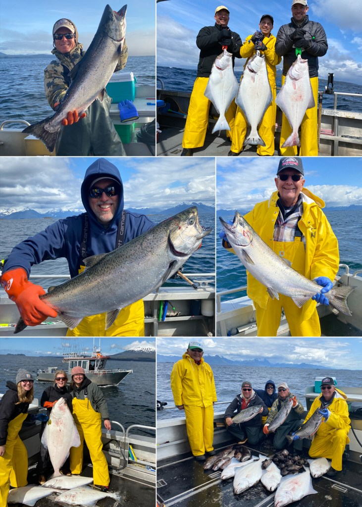 5-17-21 Catch of the Day. Kings and flatties bring big smiles!
