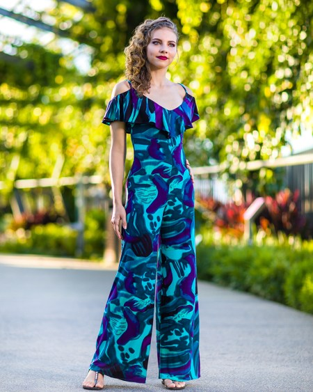 Seychelles Jumpsuit in Reflection Print