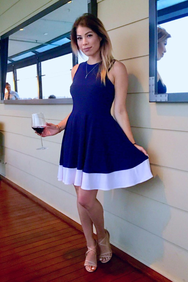 Siren Dress Nautical Collection Navy and White