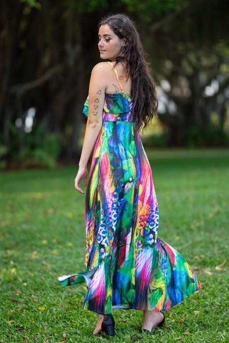 Seychelles Rose Maxi in Rainbow Cheetah